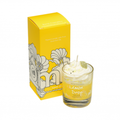 Bomb Cosmetics Lemon Drop piped Glass Candle
