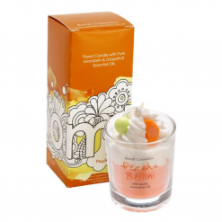 Bomb Cosmetics Peach Bellini Piped Glass Candle