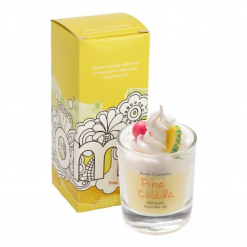 Bomb Cosmetics Pina Colada Piped Glass Candle