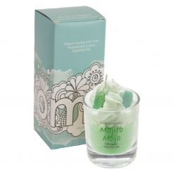 Bomb Cosmetics Piped Glass Candle – Mojito Mojo