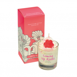 Bomb Cosmetics Piped Glass Candle - Coming Up Roses