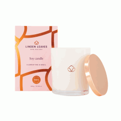 Linden Leaves clementine & basil soy candle