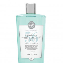 MORLAGE & YORKE APOTHECARY WHITE ORCHID & GINGER BATH AND SHOWER GEL 500ML